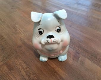 Adorable Baby Bulldog Planter made by Inarco in Japan, 1950s