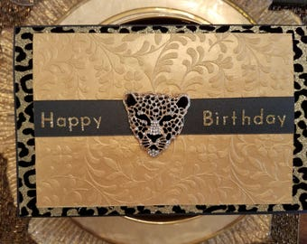 Leopard Medallion Birthday Card