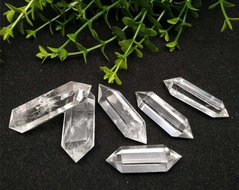 Clear Quartz - double terminated crystal points (wholesale: set of 10)