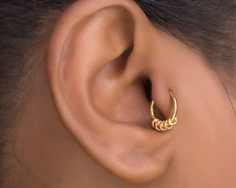 Gold Tragus Piercing. Cartilage Hoop. Cartilage Jewellery. Tragus Earring. Cartilage Earring. Helix Hoop. Helix Earring.