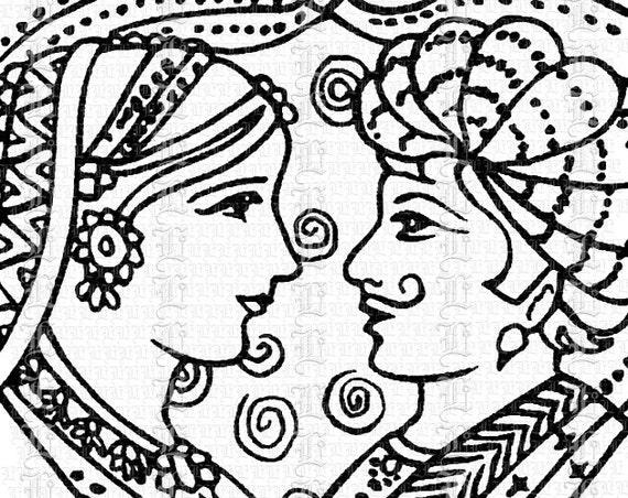 Vintage Henna Tattoo Mendhi Hands Hindu Wedding Antique Clip Art Illustrations High Quality Printable Digital Collage Sheet 1501