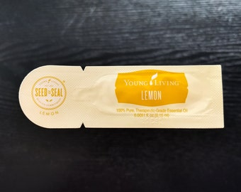 Young Living Essential Oil sample packet Lemon EO