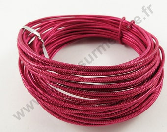 Cable Ø 2 mm aluminum wire - pink FUCHSIA - x 10 m