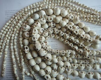 18mm skull beads, Halloween, Skeleton Beads 20pcs