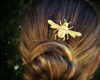 Large Bee Bobby Pin Bee Hair Pin Gold Bee Hair Clip Hair Accessories