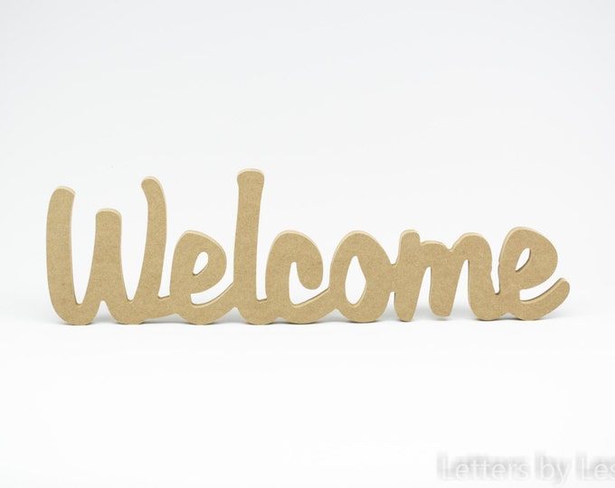 Wooden Welcome Sign, Welcome Wall Letters, Welcome Door Sign, Wedding Welcome Sign, Wood Letters, Business Sign, Wall Letters, Home Decor
