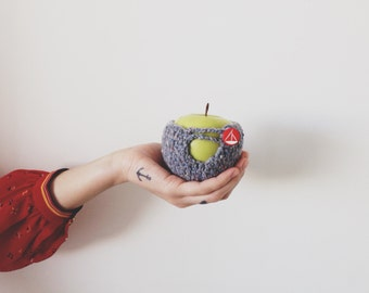 Crochet Apple Cozy - Grey