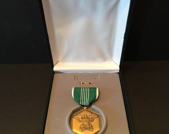 Army Commendation Medal ~Military Merit ~ Boxed ~ Vintage