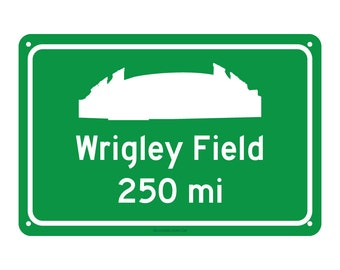 Chicago Cubs - Wrigley Field Road Sign - Customize the Distance