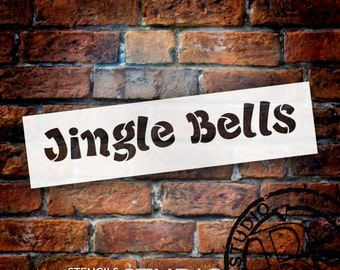 Jingle Bells Funky - Christmas Stencil - Select Size - STCL1372_1