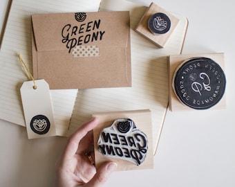 Custom Logo Stamp - Hand-Carved