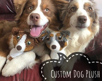 Custom Dog Plush - Dog Lover Gift - Gift for Dog Owner - Personalized Dog Gift - Custom Dog Art - Dog Memorial Gift - Father's Day Gift