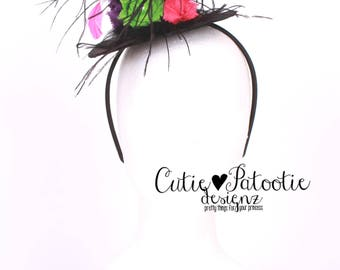 READY TO SHIP: Miss Magic Mini Witch Hat Headband - Halloween Costume - Fits toddler to adult - Cutie Patootie Designz