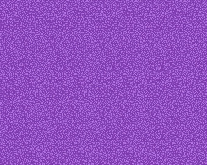 Dotties Tiny Dot Fabric by Ellen Medlock - 1 Yard Purple Lavender Tone on Tone Geometric Blender Quilting Sewing Fabric (#927P)