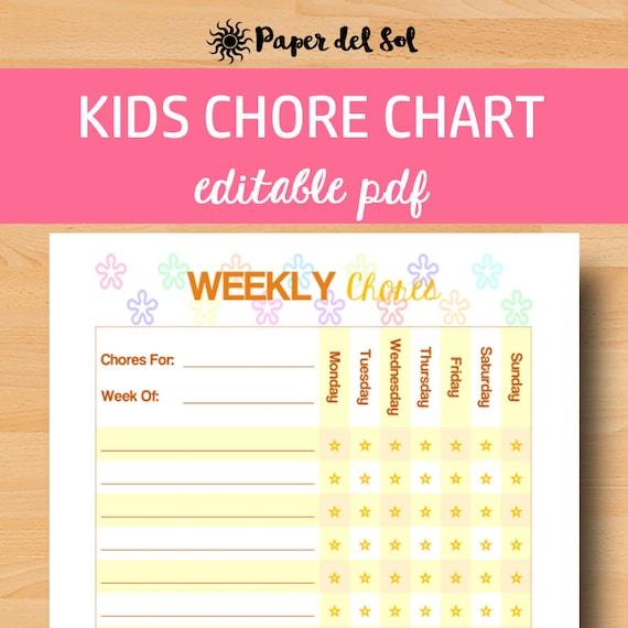 child chore checklist