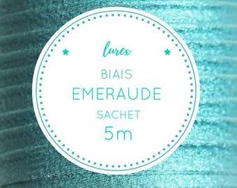 5 m bias lurex - emerald green bag