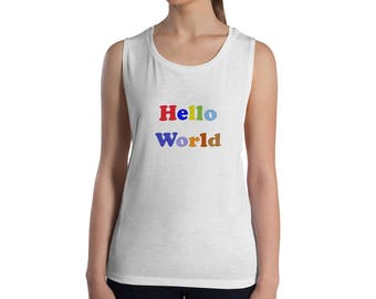 CSP Hello World Ladies' Muscle Tank