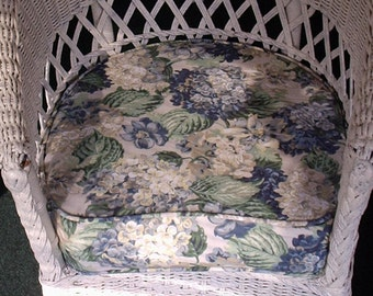 Patio Chair Seat Cushion, Includes Piping, Zipper and Foam and Batting,Your Fabric Selection can be Ordered,Made to Order, You Pay Shipping.