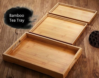 Bamboo Kung Fu Tea Tray Fruit Dish Tea Accessories Free Shipping