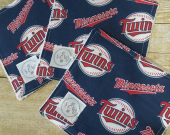 Baby Teething Cloth Set of 3 in MN Twins print