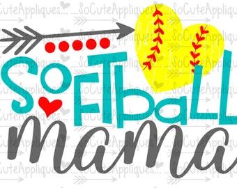 Softball Mom svg, softball cut file, softball svg, softball clipart, softball mama, svg file, softball shirt, socuteappliques