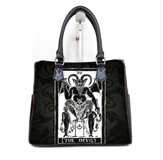 The Devil Tarot Card Barrel Style Handbag