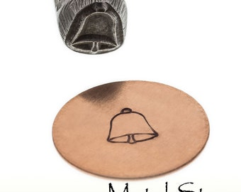 Bell Outline Metal Design Jewelry Stamp Tool for use with soft metals made of hardened tool steel