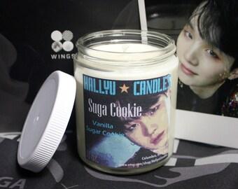 Suga Cookie - BTS - Soy Candle - 8oz - Vanilla Sugar Cookie