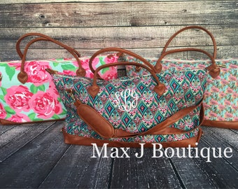 Carry all bag - monogrammed duffle - personalized overnight bag- weekender bag