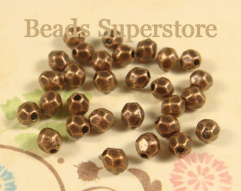 4 mm x 3.5 mm Antique Copper Spacer Bead - Nickel Free, Lead Free and Cadmium Free - 50 pcs