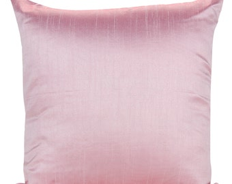 Set of 2 Solid Baby Pink Pillow Cover and Euro Sham Covers Plain Pink Pillow  Solid Pink Pillow Cover Solid Pink Throw Pillow Bedding