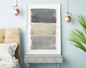 Large Abstract Art, Abstract Art, Grey Art, Gray Wall Art, Abstract Watercolor, Extra Large Print, Large Abstract Print, Abstract Artwork