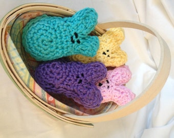 Crocheted Easter Basket Bunny Bunnies