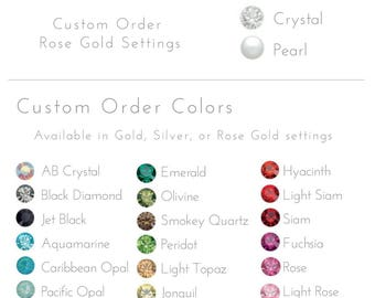 Crystal Custom Colors - Style #201 - Ripple Headpiece Custom Color Upgrade
