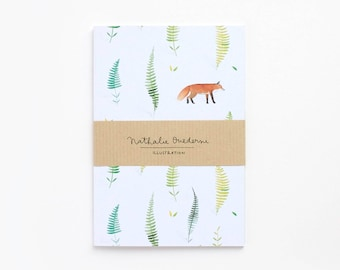 Note book, pattern journal, pattern notebook, gift for nature lover, small note book, nature stationery, nature notebook, nature journal
