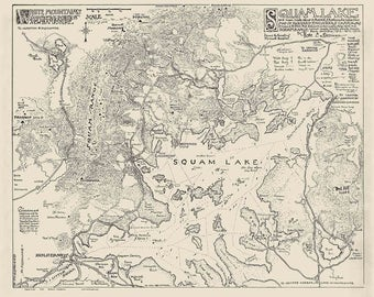 Squam Lake 1920 Map Reprint - New Hampshire