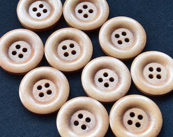 Natural Wooden Buttons (22 mm)