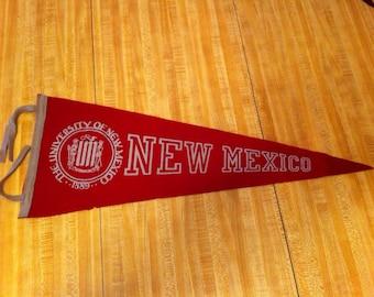University of New Mexico Vintage Felt Pennant