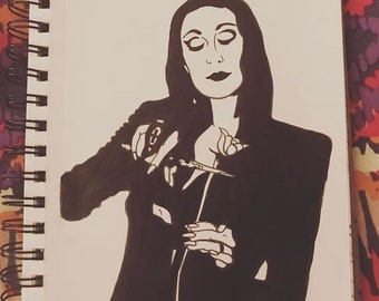 Normal is an Illusion (Morticia Addams Illustration/Artwork)