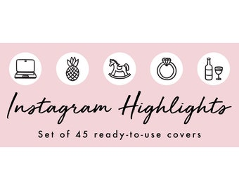 Instagram Story Highlight Icons - 45 White Covers | Fashion, Beauty, Lifestyle, Decor, Craft, Handmade, Bloggers, Influencers