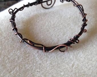 Bracelet torsadé vigne