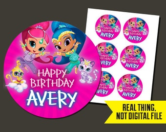 Shimmer and Shine Stickers - Shimmer and Shine Birthday - Stickers