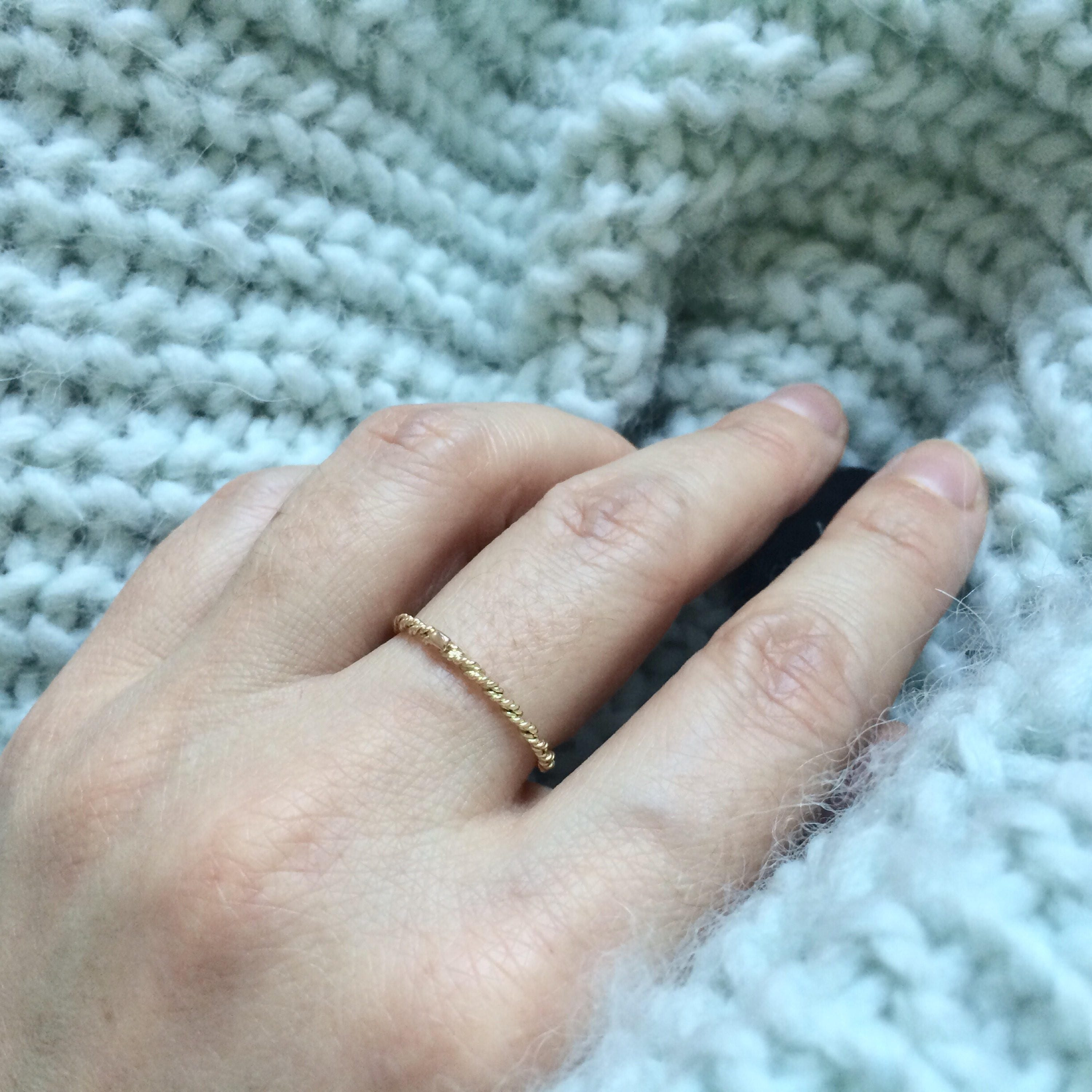 img solid collections stacking original thin products ring r textured rings simple gold modern