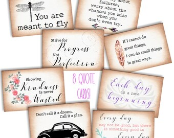 INSTANT DOWNLOAD/ Quote Cards/ Scrapbook Cards/ Scrapbook Embellishments/ Cardmaking Papers/ Cardmaking Supplies/ Journal Prompts/ Vintage
