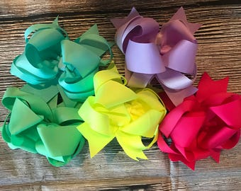Spring Colored Hair Bows