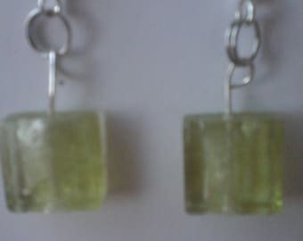 Yellow/green earrings