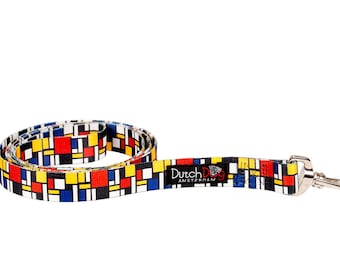 Mondrian Fashion Dog Leash - 5ft. Made From Recycled Webbing