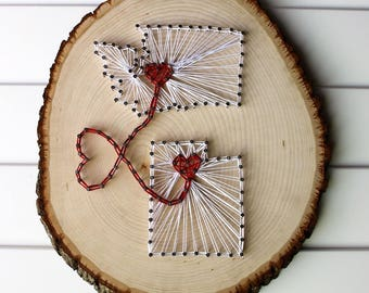 Two State String Art with Heart
