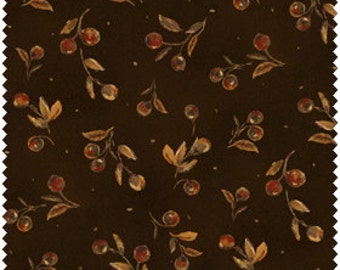 Harvest Home, dark brown with rust and beige seed pods.
