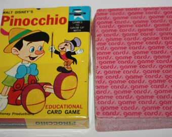 Walt Disney's Pinocchio Educational Card Game 1968